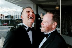 Same-Sex Grooms Share Laugh at Wedding in Australia