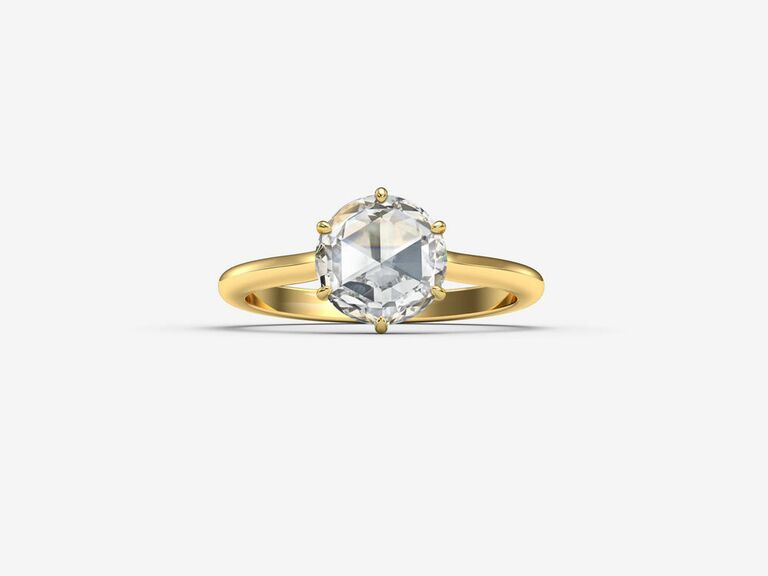 harvey owen rose cut engagement ring
