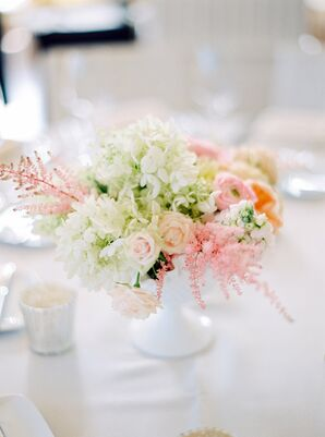 Small Pastel Floral Centerpieces