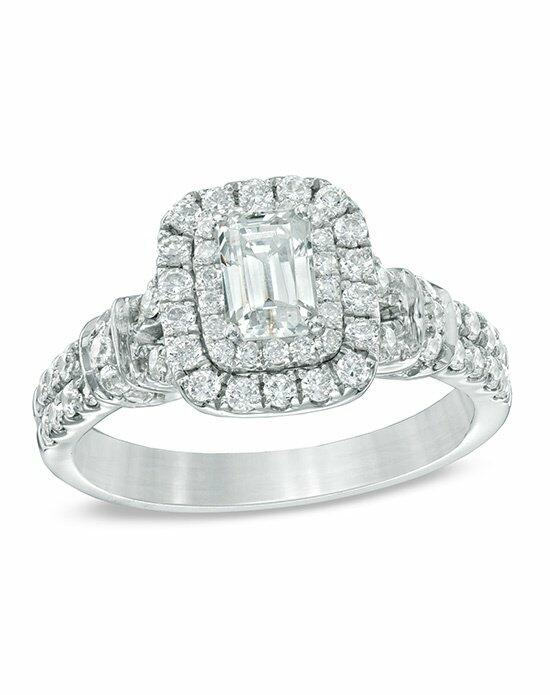 Celebration Diamond Collection at Zales Celebration Grand® 1-1/6 CT. T.W. Emerald-Cut Diamond Frame Engagement Ring in 14K White Gold (I/I1)  19940239 Engagement Ring photo