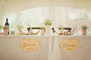 Rustic Antler and Baby's Breath Centerpieces