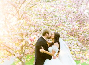 rn                    MaryCarol Davis (28 and a design consultant) and Christopher Lamb (27 and in property management) had an elegant spring wedding
