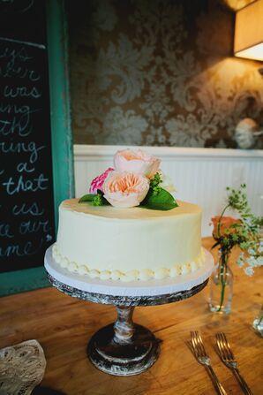 Traditional White Round Cake