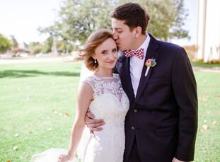 For Katie Simpson (23 and a graphic designer) and Taylor Greenhill (22 and a worship arts pastor), wedding inspiration emerged from teacups and bright