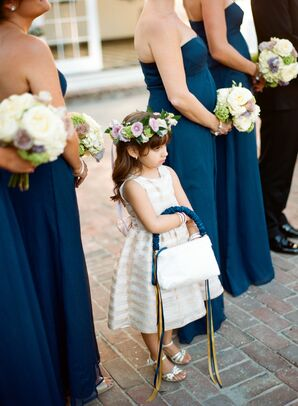Blush Flower Girl Dress with Matching Basket