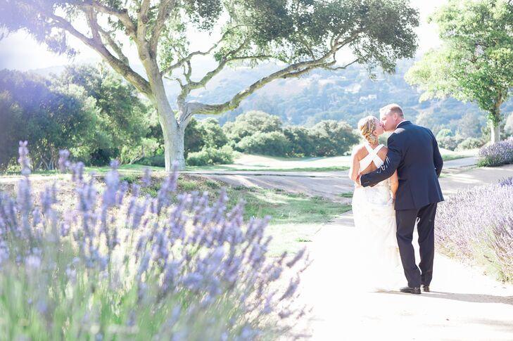 Lavender Field Post-Ceremony Photos