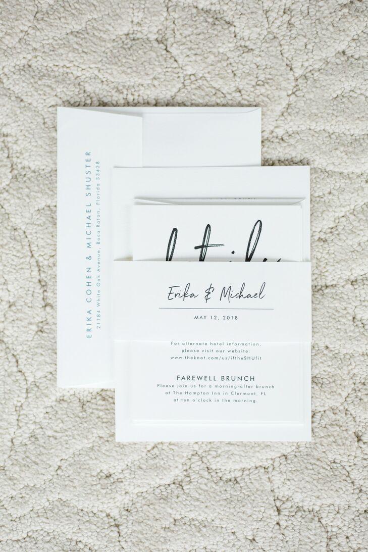 Simple Invitations for Florida Wedding at Bella Collina