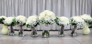 Ivory Rose and Baby's Breath Bouquets
