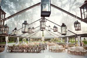Clear-Tented Reception With Lanterns