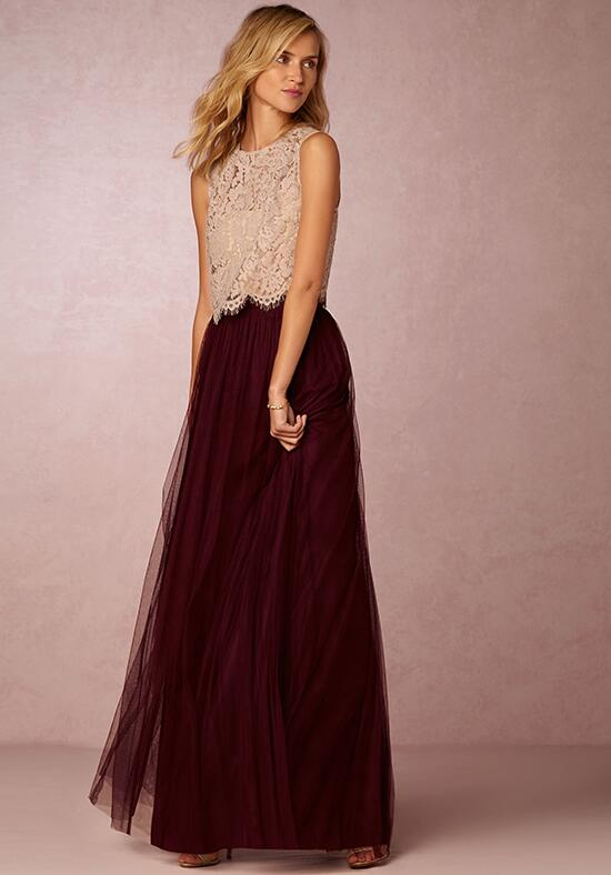 BHLDN (Bridesmaids) Louise Tulle Skirt-Red Bridesmaid Dress photo