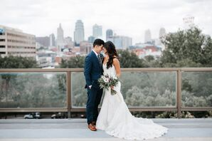 Romantic Couple on the rooftop of The Berg Event Space in Kansas City, Missouri