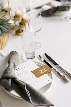 Minimal Place Setting for Reception at South Congress Hotel in Austin, Texas