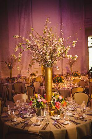 Elaborate Gold, Cherry Blossom Centerpiece
