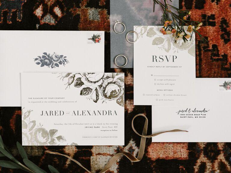 Wedding invitation trends addressing etiquette
