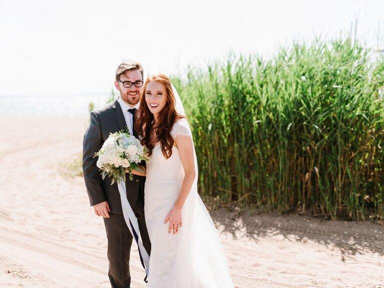 Connecticut outdoor beach wedding