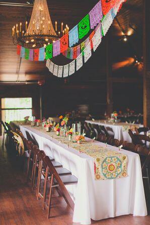 Mexican Inspired Reception Decor
