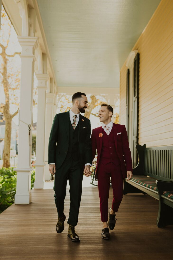Grooms at The Chalfonte Hotel in Cape May, New Jersey