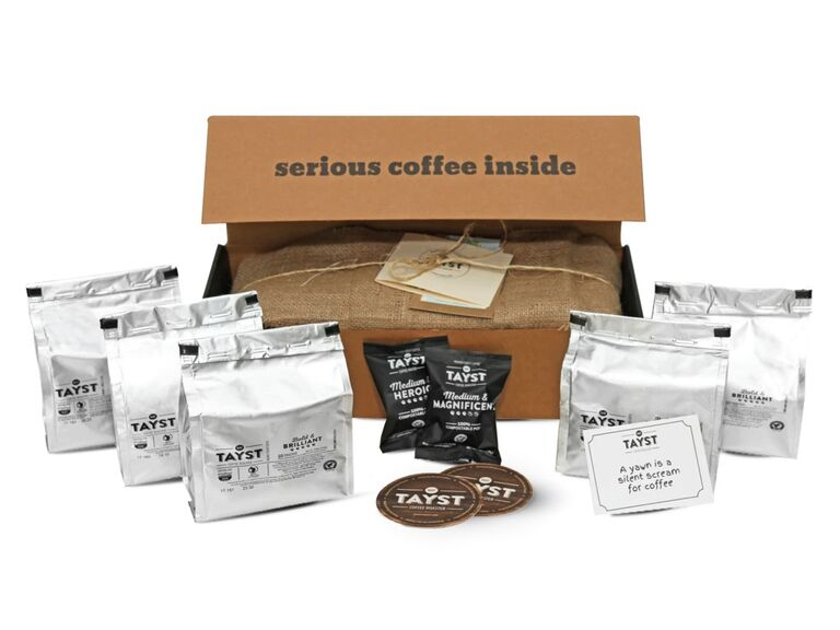 Coffee gift box for bridesmaids