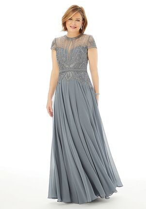 MGNY 72221 Gray,Purple Mother Of The Bride Dress