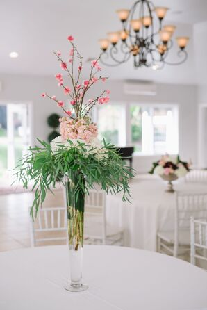 Understated Tall Cherry Blossom Centerpieces