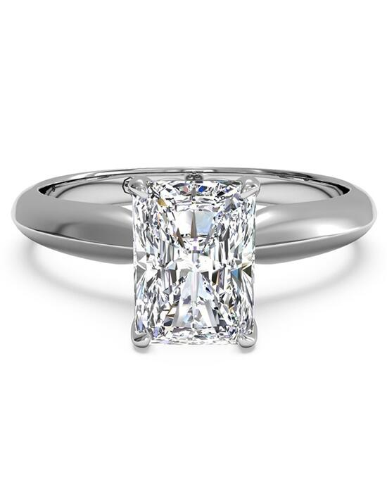 Ritani Solitaire Diamond Knife-Edge Engagement Ring - in 14kt White Gold for a Radiant Center Stone Engagement Ring photo