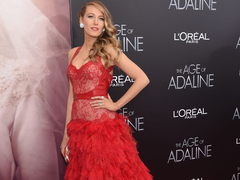 Blake Lively poses on the red carpet