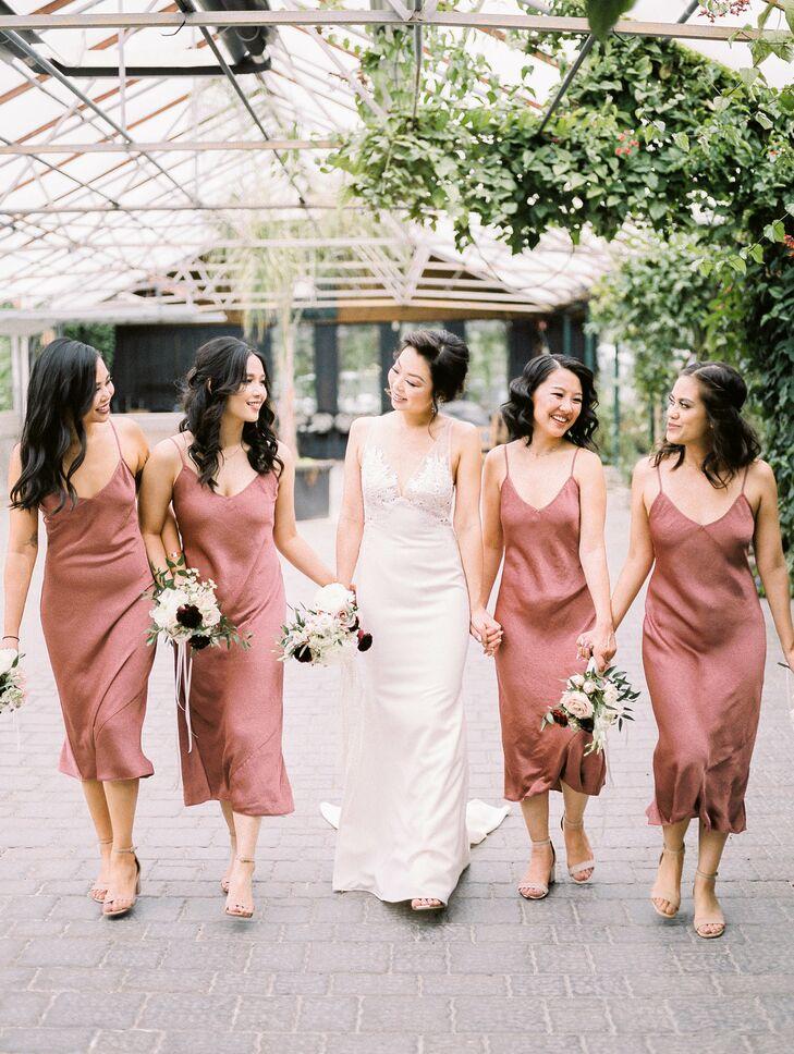Dusty Rose Slip Dresses