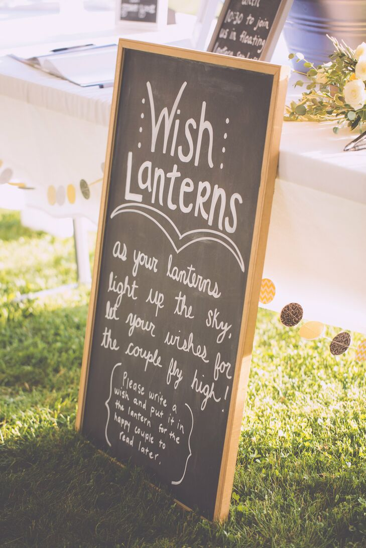 One of the brides favorite movies is Tangled, which has a focus around paper lanterns, so she has been obsessed with the lanterns ever since.  A special part of the night was their floating lantern send off so they made sure to have enough lanterns for every guest to send off.