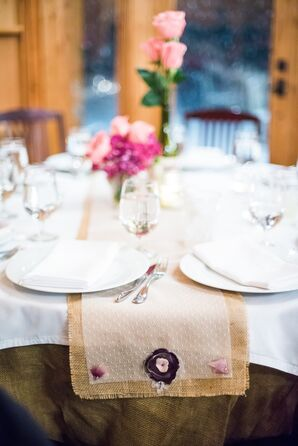 DIY Tulle and Burlap Table Runners