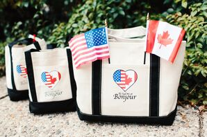 Preppy Personalized Gift Bags with National Flags