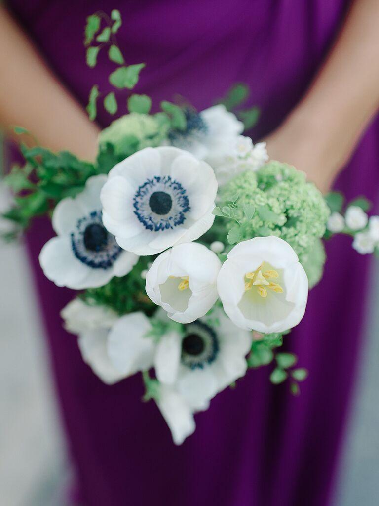 Tulip and anemone wedding bouquet ideas