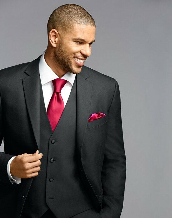 The Men's Wearhouse® Notch Lapel Black Suit Wedding Tuxedos + Suit photo