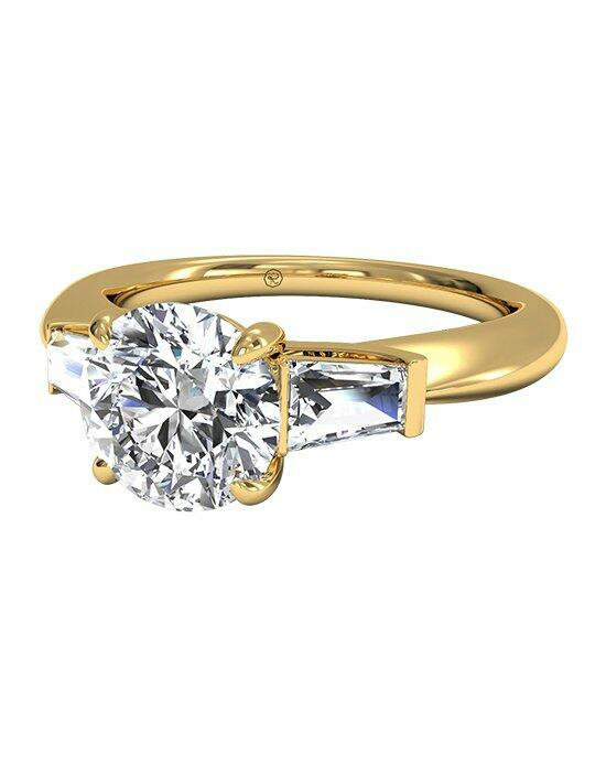 Ritani Tapered Baguette Diamond Engagement Ring in 18kt Yellow Gold (0.25 CTW) Engagement Ring photo