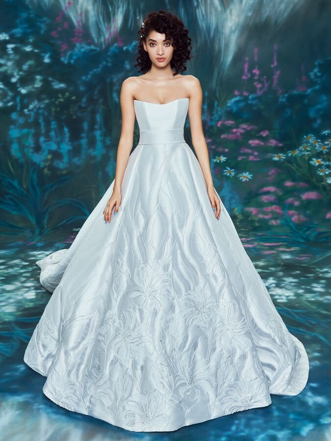 Ines Di Santo sleek strapless ball gown