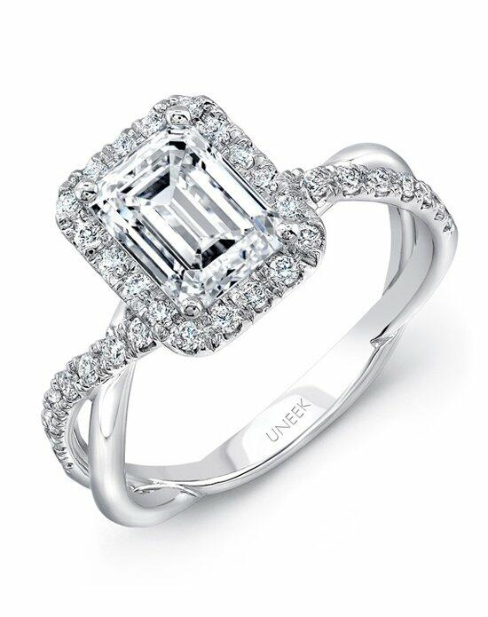 Uneek Fine Jewelry SM817EM-7.5X5.5EM Engagement Ring photo