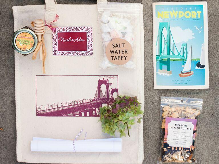 Newport-inspired wedding favors