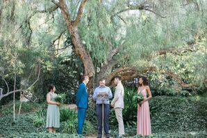 Wedding Ceremony Underneath a Tree in California