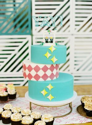 Geometric Cake at Colony 29 in Palm Springs, California