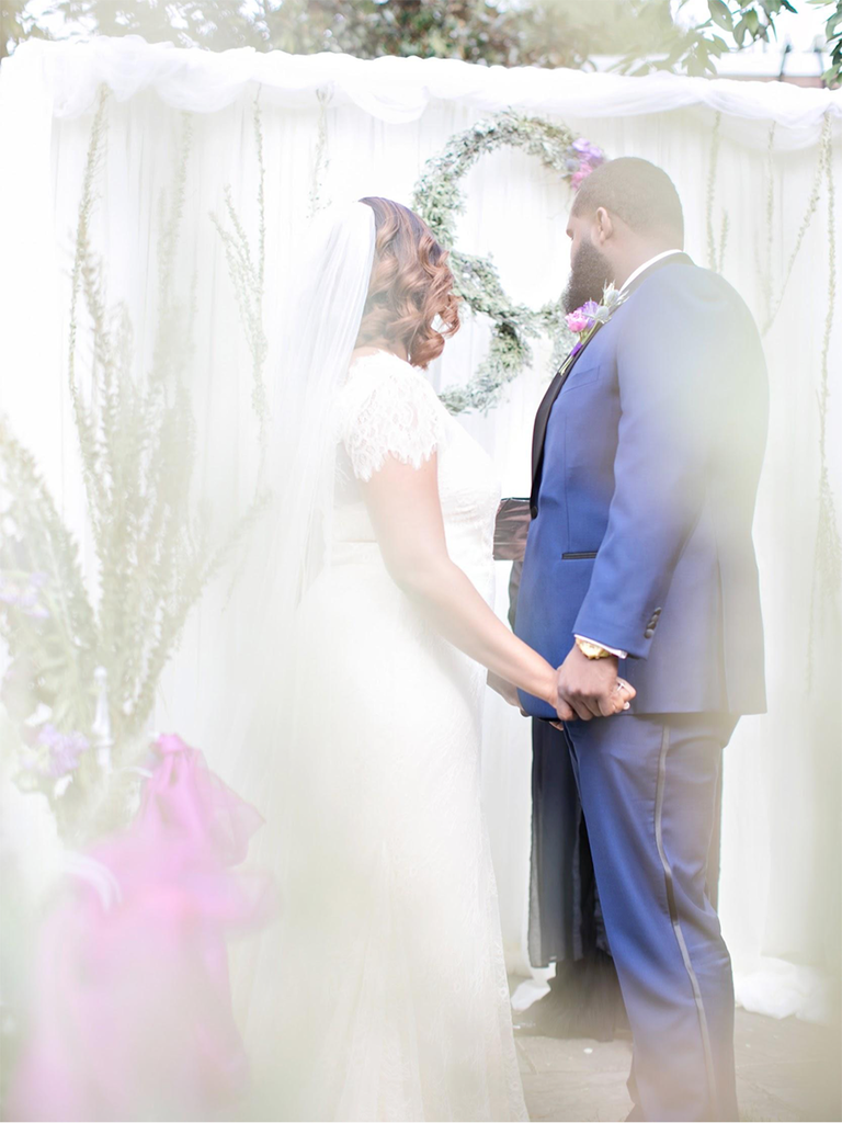 small at-home wedding ceremony
