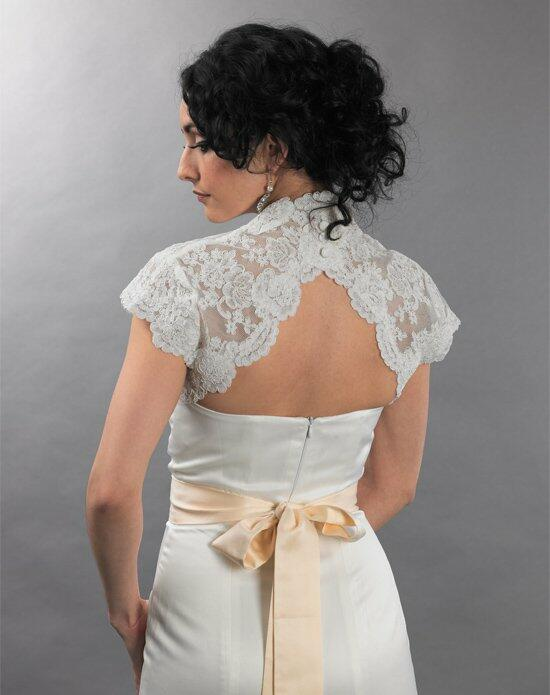 Tulip Bridal Cap Sleeve Ivory Lace Bolero Jacket with Keyhole Back Wedding Jackets photo