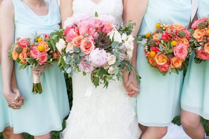 Lush Rose and Peony Bouquets