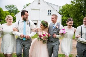 Casual Gray and White Wedding Party Attire