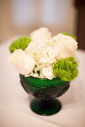 Green Low Centerpieces