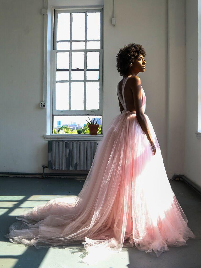 the lotus bloom wedding dress