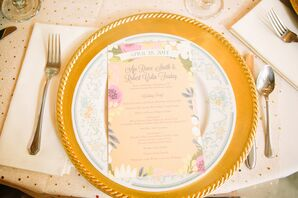 Whimsical Enchanted Garden Stationery and Menu Card