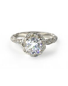 James Allen Glamorous Princess, Round, Oval Cut Engagement Ring