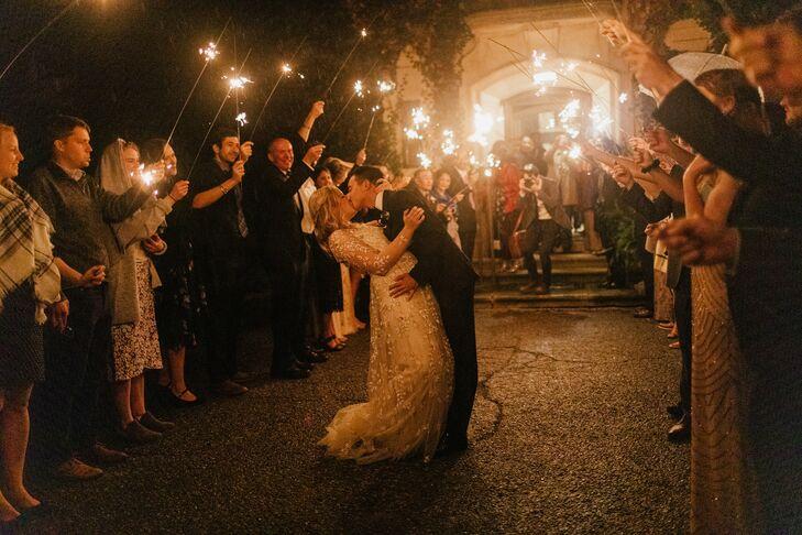 Sparkler Exit at Wedding in Western Michigan