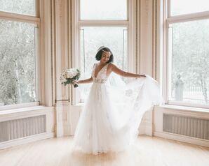 Bride at Wedding at The American Swedish Institute in Minneapolis, Minnesota