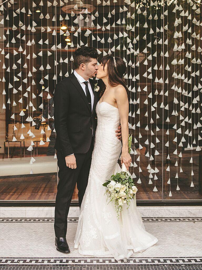 DIY wedding reception background