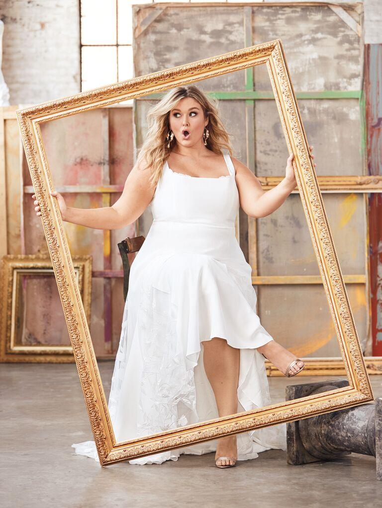 Hunter McGrady The Knot Wedding Dress Photoshoot